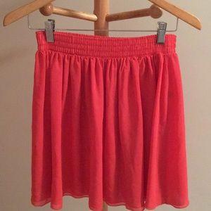 Coral Skater Skirt